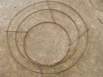 Reinforcing rebar cut, bent, and welded to shape for use in precast concrete construction.