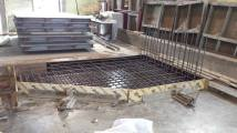 Precast Reinforcing Unit made of cut and welded rebar ready for use.