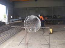 prefabricated reinforcing cage for piles.